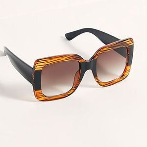 Free People Sugar Oversized Square Sunglasses